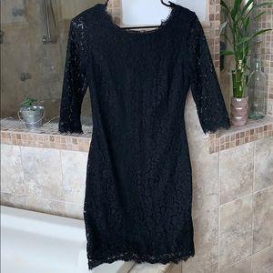 Dresses & Skirts - Black lace cocktail dress